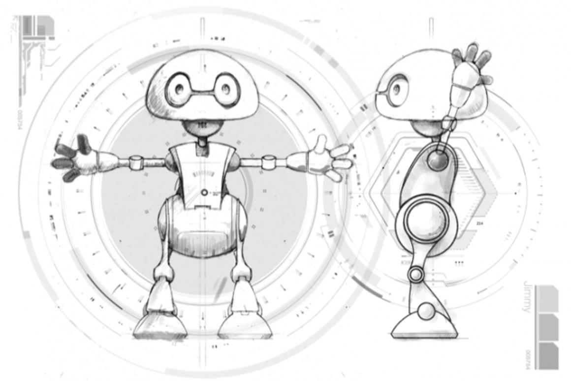 A sketch from the book 21st Century Robot which is being used as a vehicle for the open-source project (Image: robots21.com)