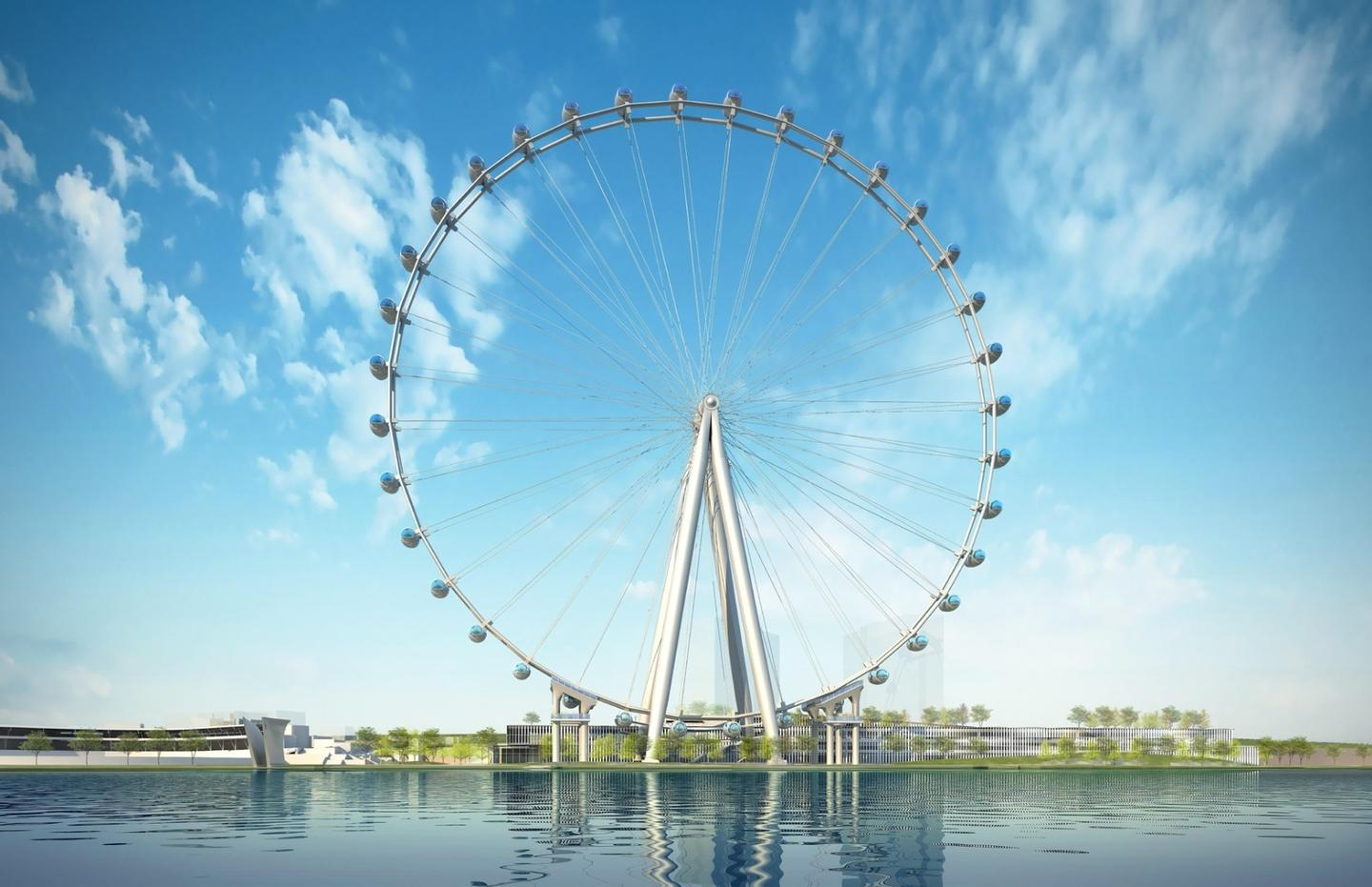 The New York Wheel will be 630-ft (192-m) tall