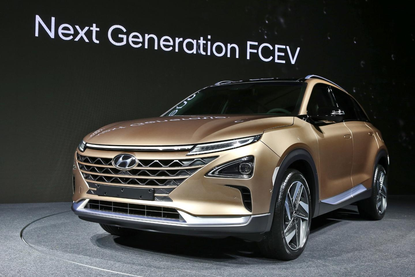 The split face of the Hyundai hydrogen SUV