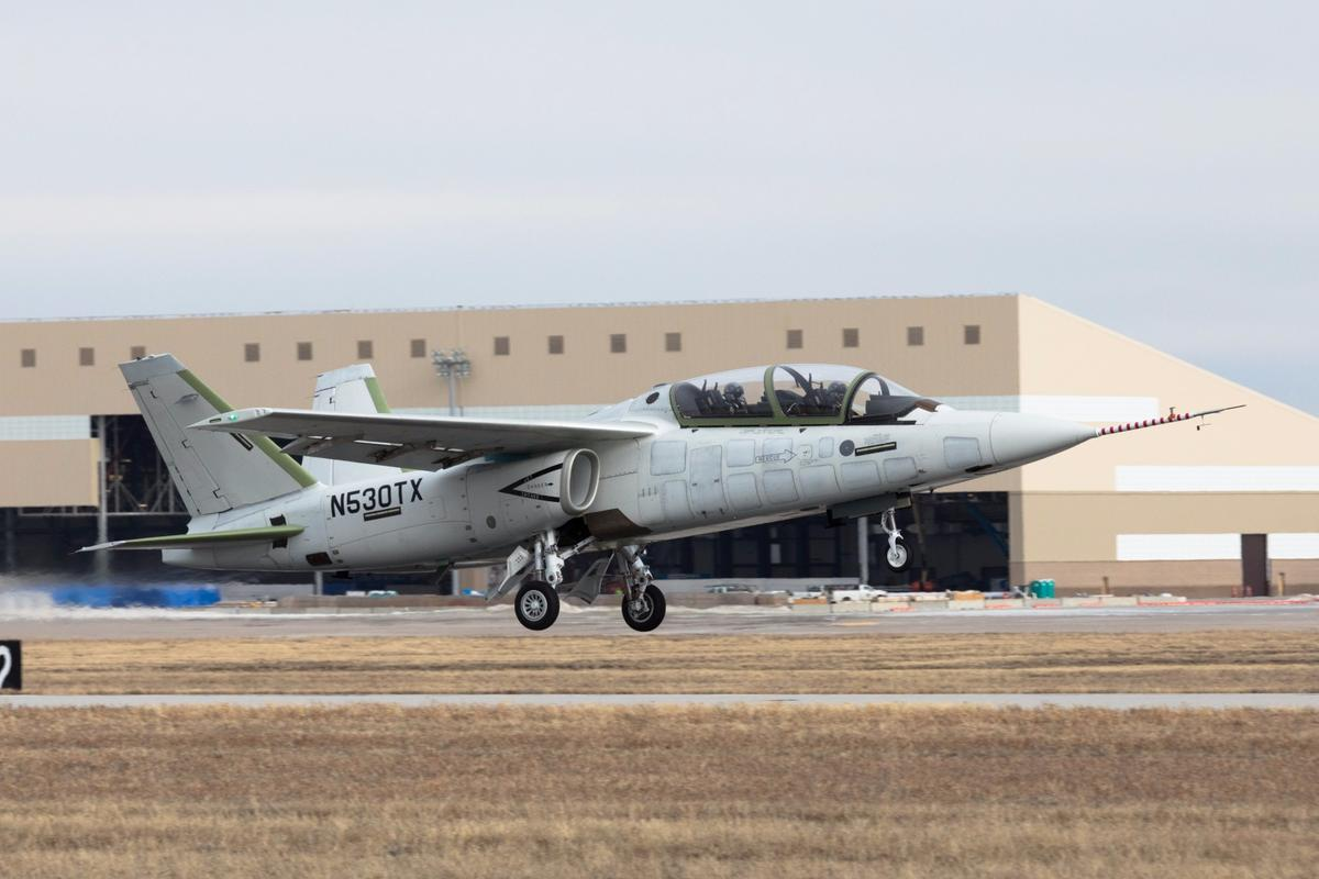The Textron Scorpion beginning its maiden flight