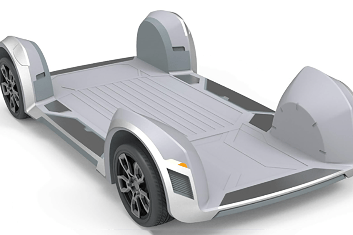 Battery in the floor, everything else in the compact wheel bay. REE believes its super-modular skateboard architecture is set to revolutionize electric vehicle design for the future