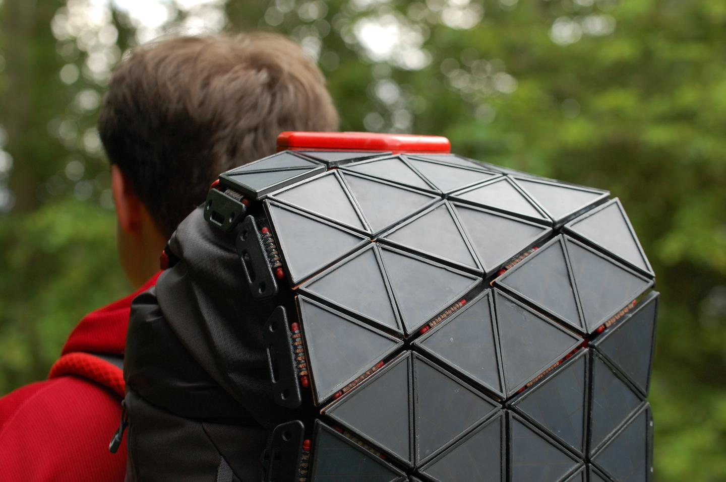 SunUp features a 15-W solar panel capable of fully charging a 4,000 mAh battery within 12 hours