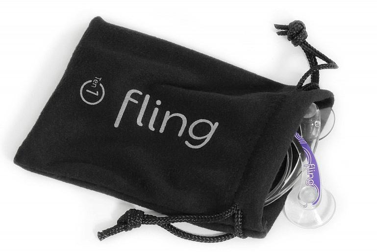 The Fling is an analog joystick that can be attached to the screen of an iPad, for better control when gaming