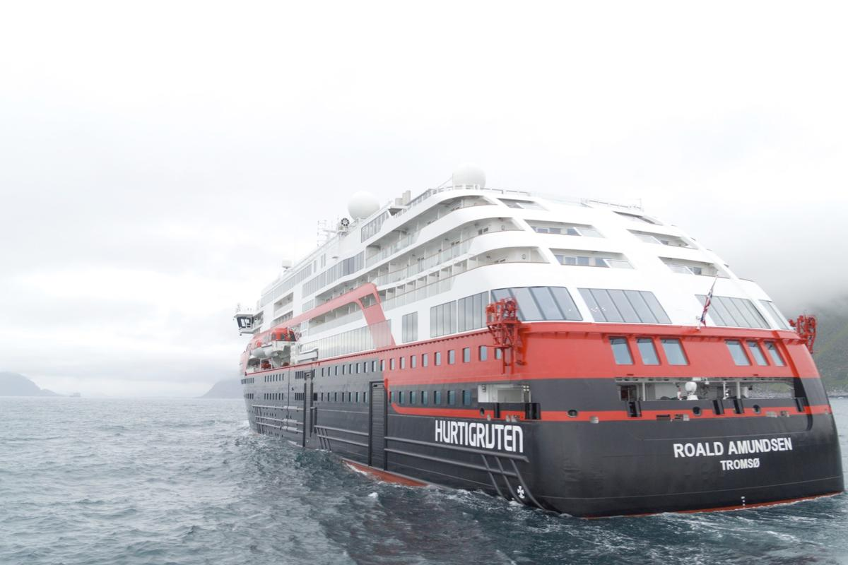 The MS Roald Amundsen is designed specifically for the frigid polar waters