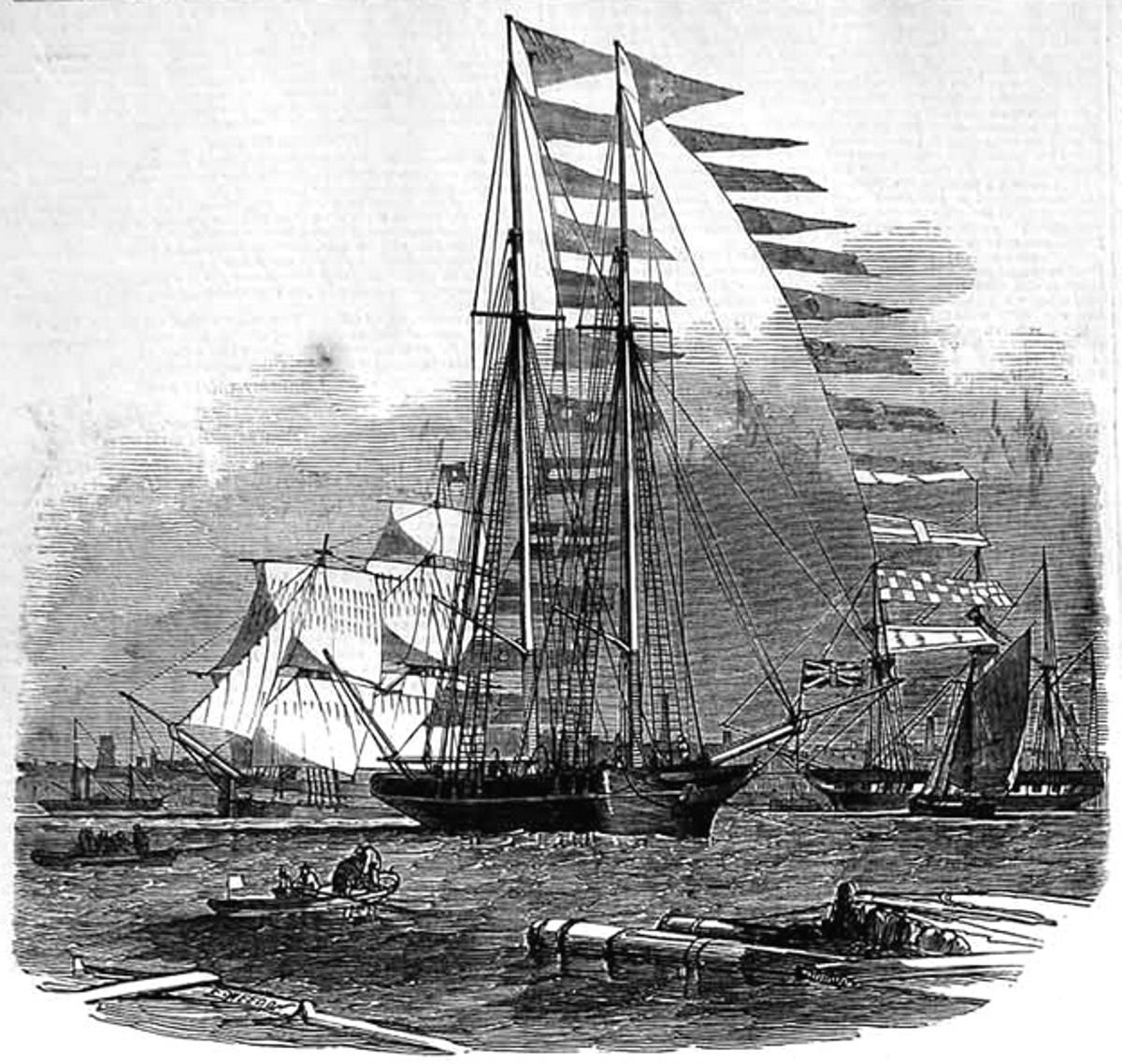 The original Titania, as pictured by the Illustrated London News in 1850