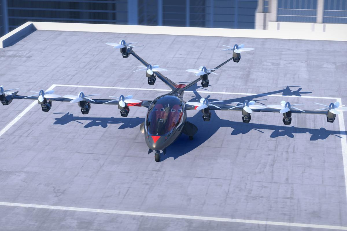 Joby conceives the S2 VTOL tilt-rotor aircraft as a kind of commuter aircraft