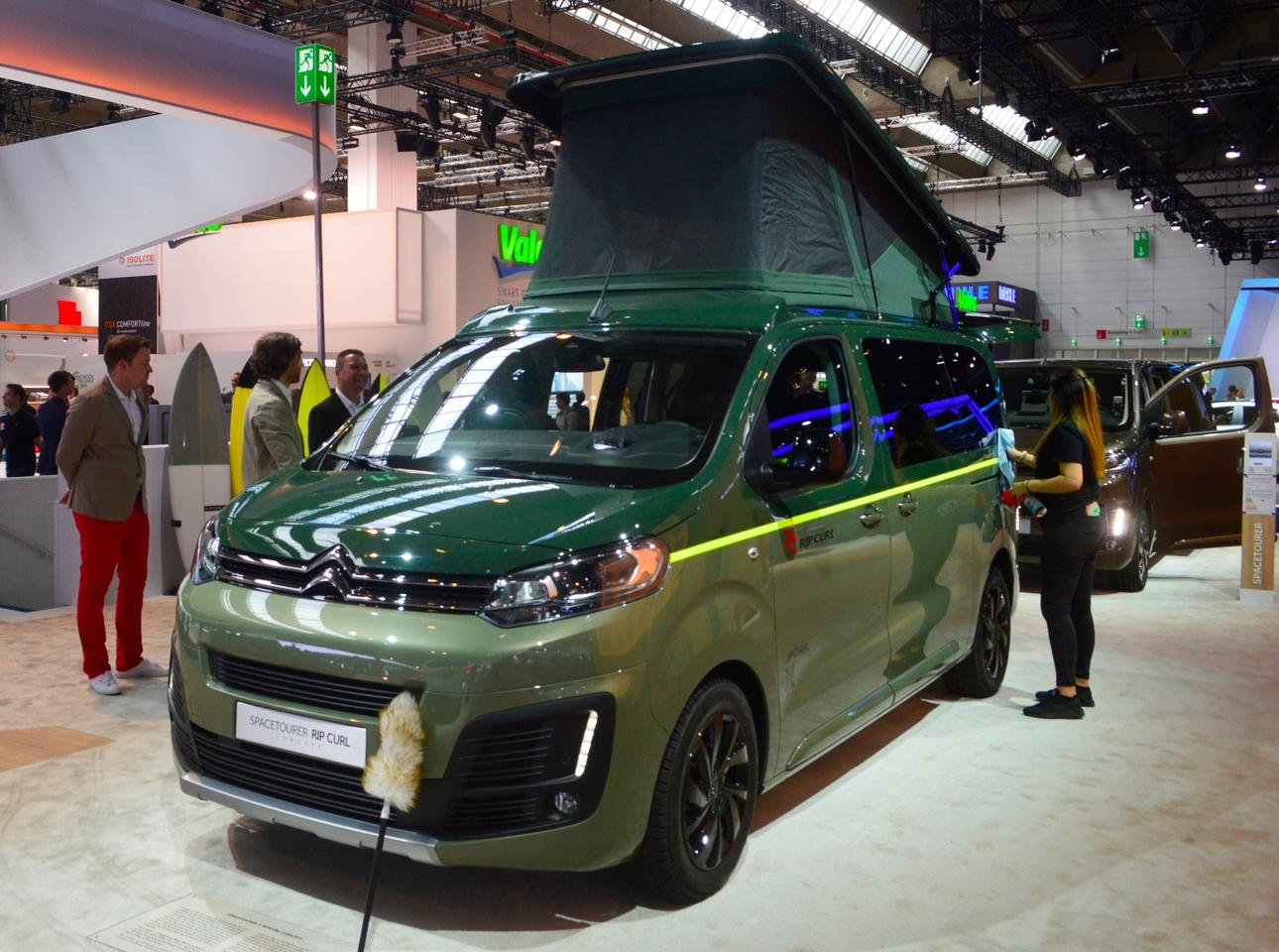 The SpaceTourer Rip Curl Concept is Citroën's idea of a small camper van designed for scouting breaks