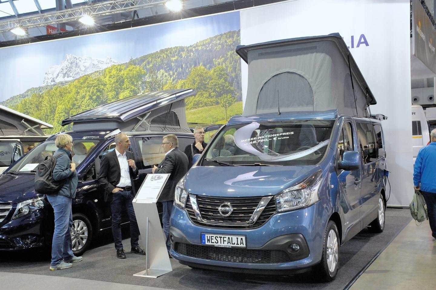 The van was selling for just under 48,800euros at the show, but Westfalia's press release doesn't specify a retail price