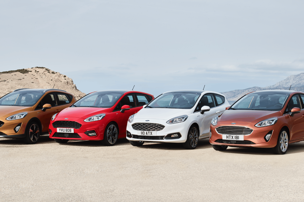 The new Ford Fiesta range in all four trim lines