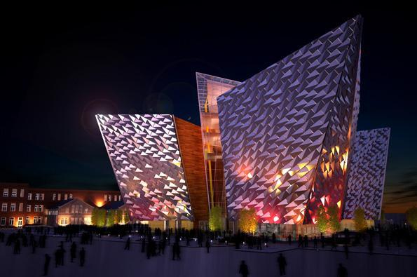 The TitanicBelfast museum at night(Photo: Metalbau Frueh)