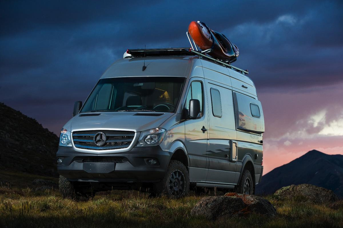 The new Winnebago Revelincludes a luggagerack on the roof