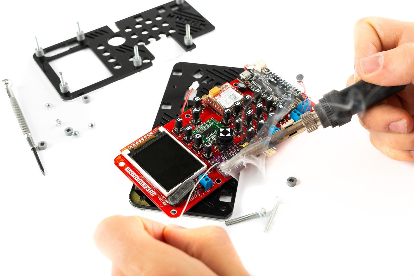 As its name suggests, the MakerPhone is an educational electronics kit that you build into a working mobile phone