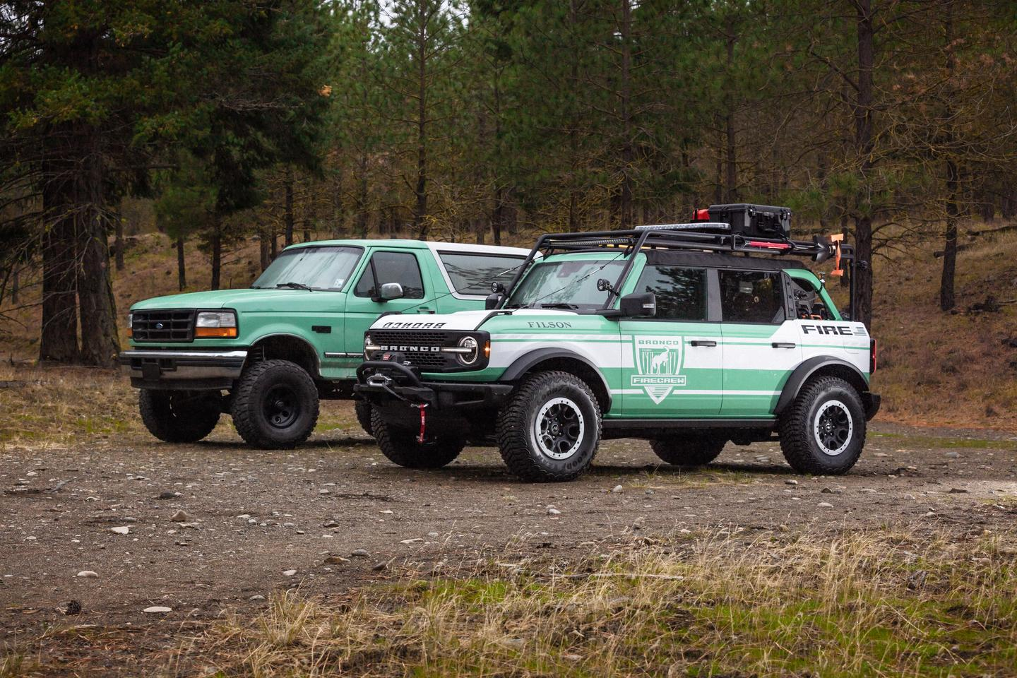 The look and design of the new Bronco Wildland Fire Rig is inspired by USFS Broncos of the past