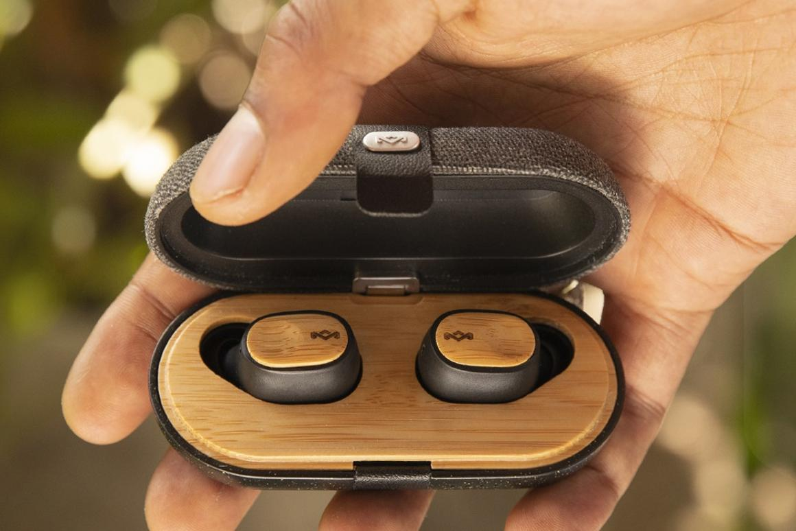 The Liberate Air truly wireless earphones from the House of Marley are made using sustainable materials