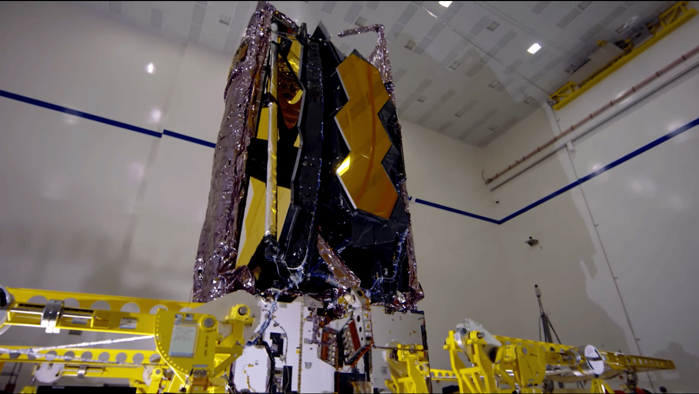 The James Webb Space Telescope has been folded up ready to be transported to its launch site