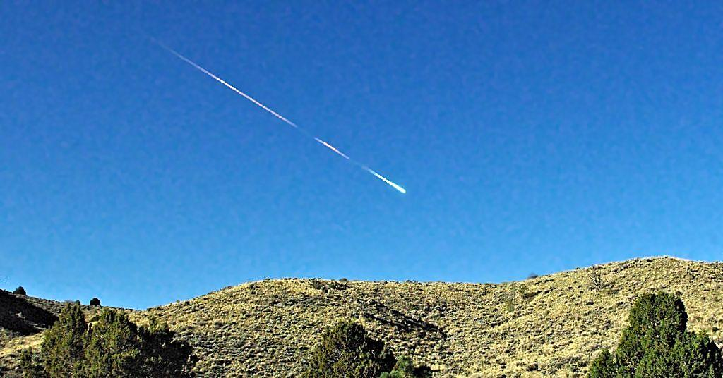 The Sutter's Mill bolide caught from near Reno, Nevada (Photo: Lisa Warren)