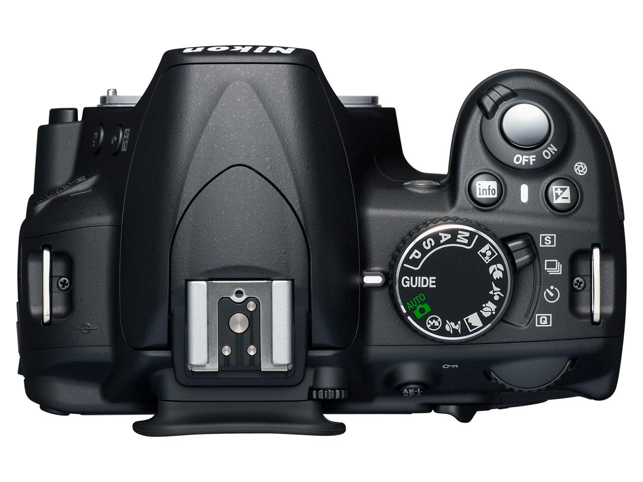 In addition to the settings dial, the D3100 features a selection switch to activate the camera's quiet mode