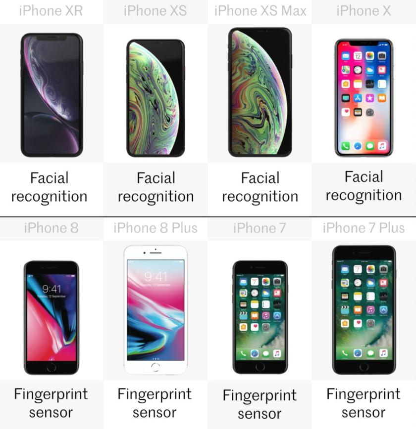 Comparing the latest iPhones: iPhone XR vs  XS, XS Max, X, 8