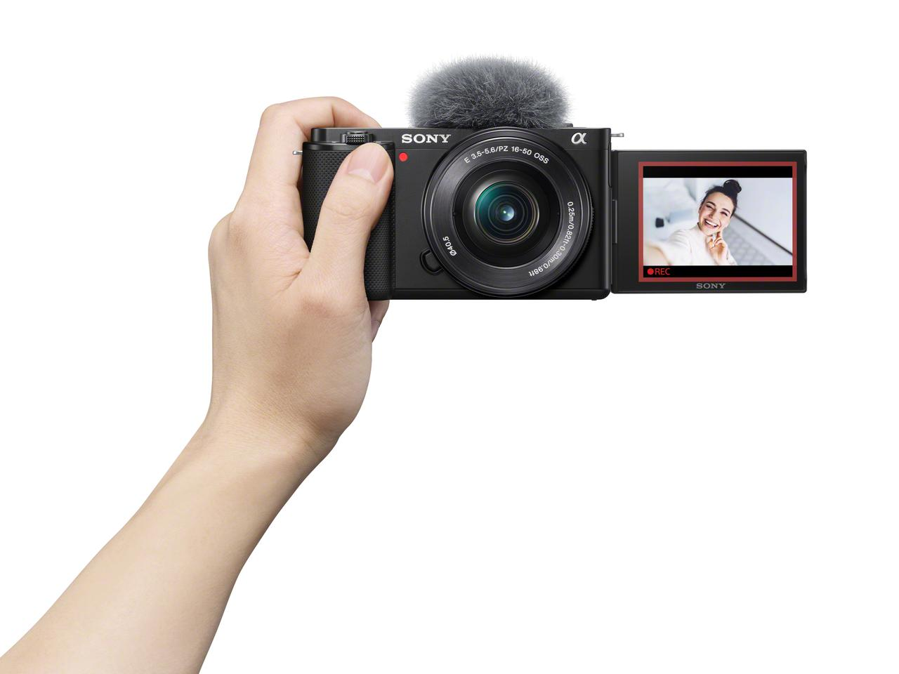 The ZV-E10 is the first Alpha interchangeable lens mirrorless camera optimized for vloggers