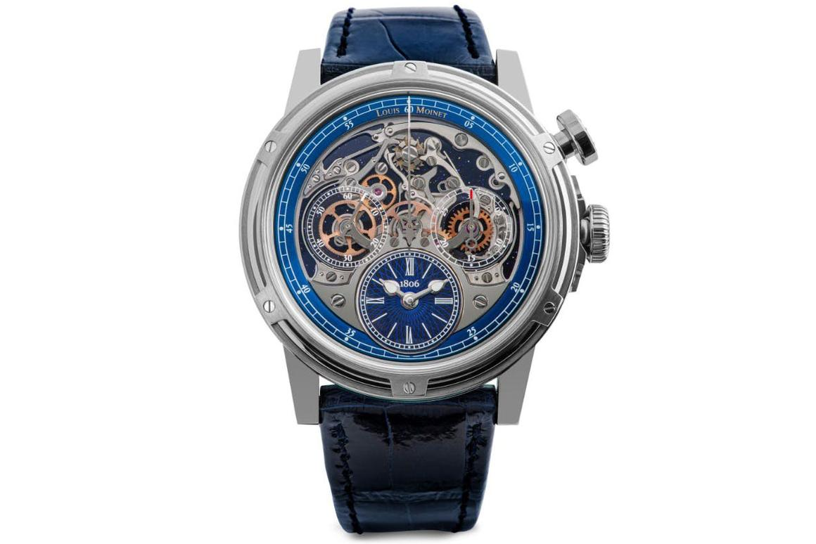 The Louis Moinet Memoris Only watch has a separate chronograph function