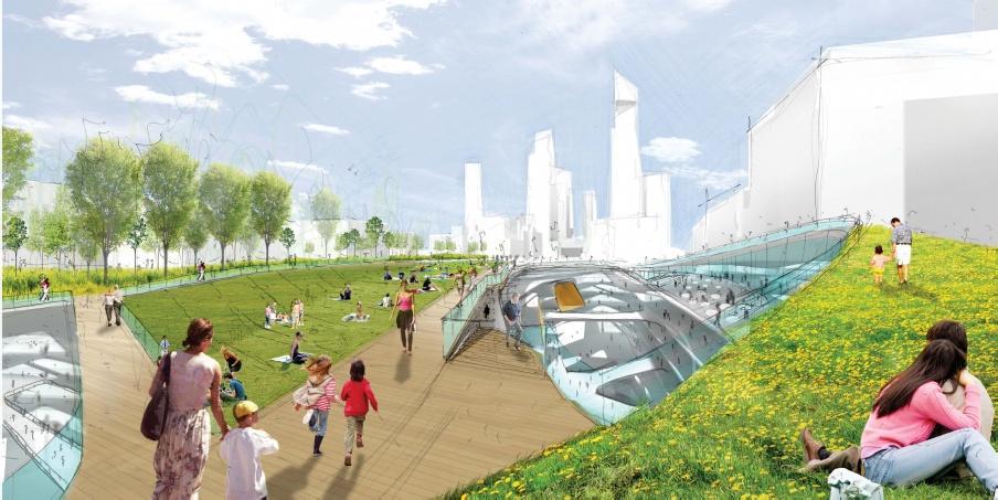 Park on top level of Penn Station by DS+R Design (Image: DS+R Design)