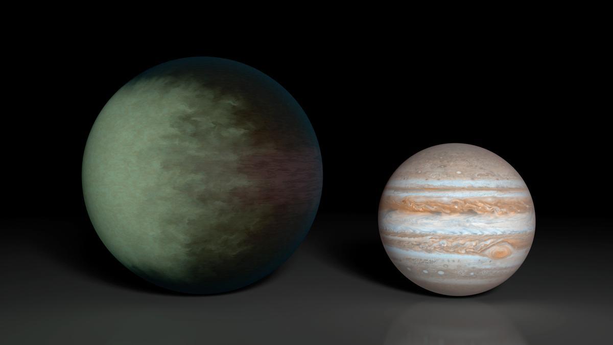 Comparison of Kepler-7b and Jupiter (Image: NASA)