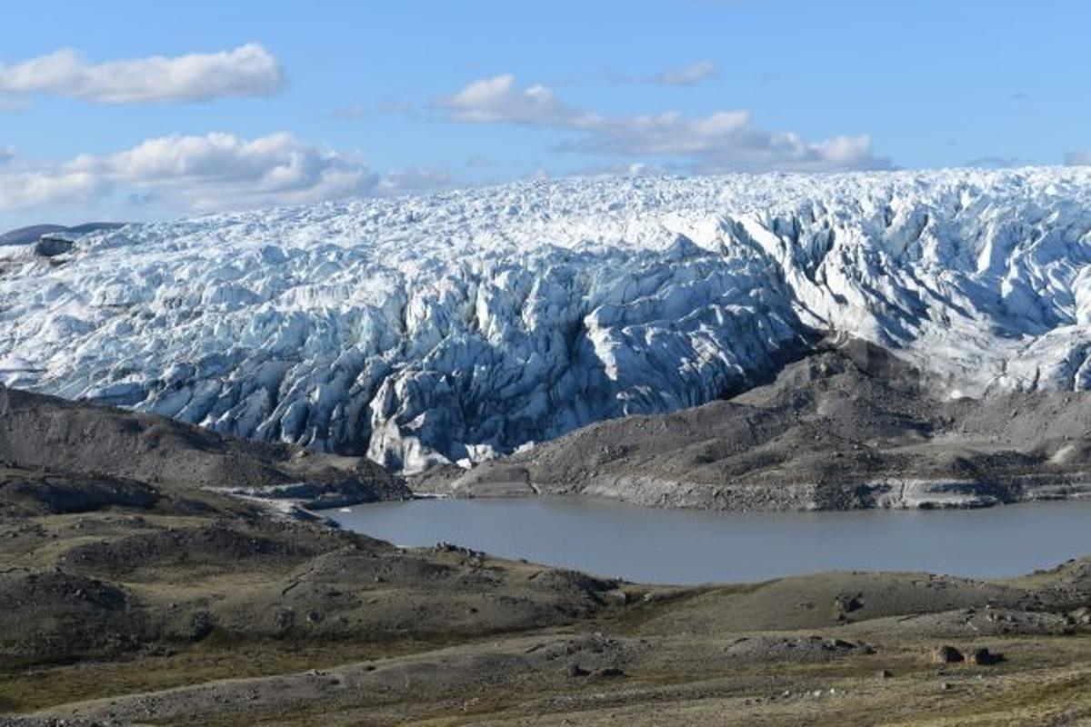 The Greenland ice sheet, which lost a record-breaking amount of ice in 2019