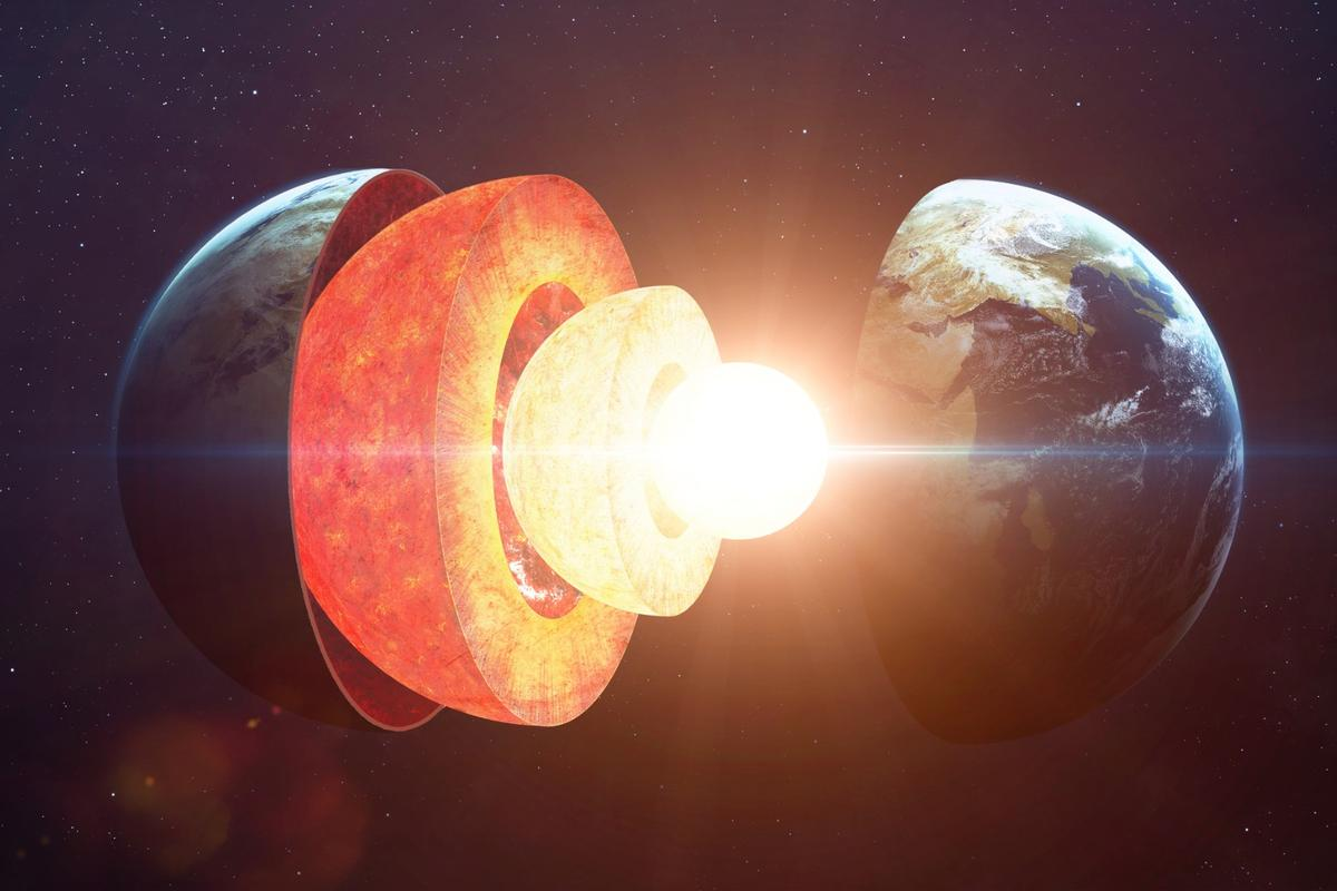 By measuring seismic waves passing through the center of the Earth, researchers have concluded that the inner core is solid but squishy