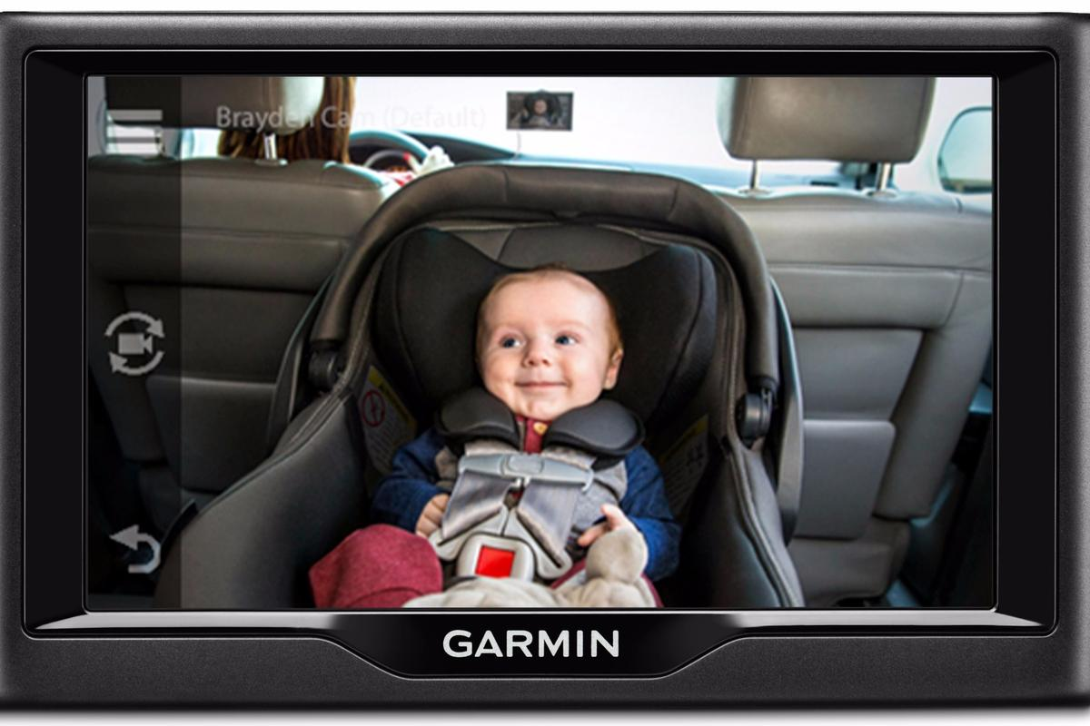 Garmin's babyCam puts a live feed of rear passengers on compatible Garmin GPS navigation displays