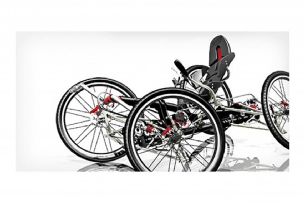 The CarvX four-wheeled carving recumbent bike