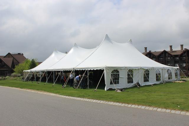 The Charged Up show tent at Crystal Springs Resort