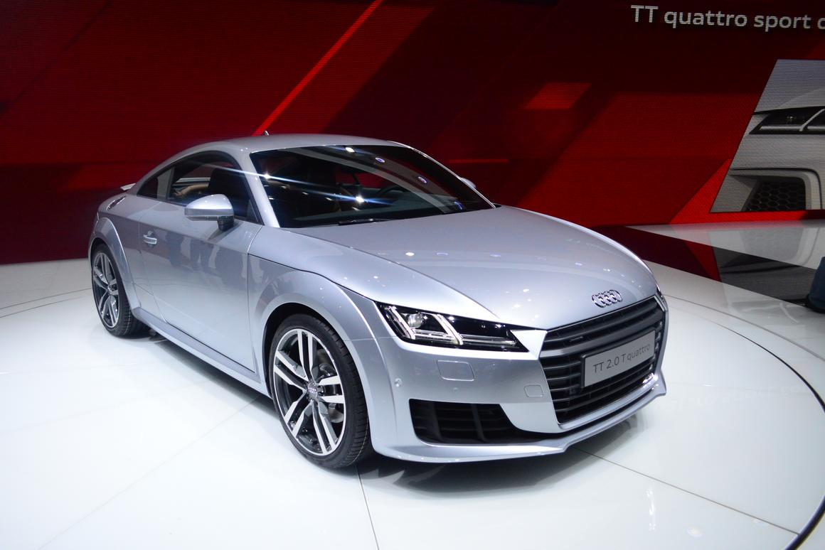 The new Audi TT at the Geneva Motor Show (Photo: CC Weiss/Gizmag)