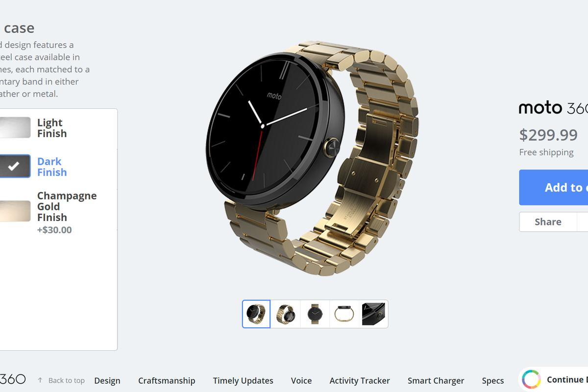 You can now customize your own Moto 360 through Moto Maker, though your options are (mostly) limited to the ones already available in retail configurations