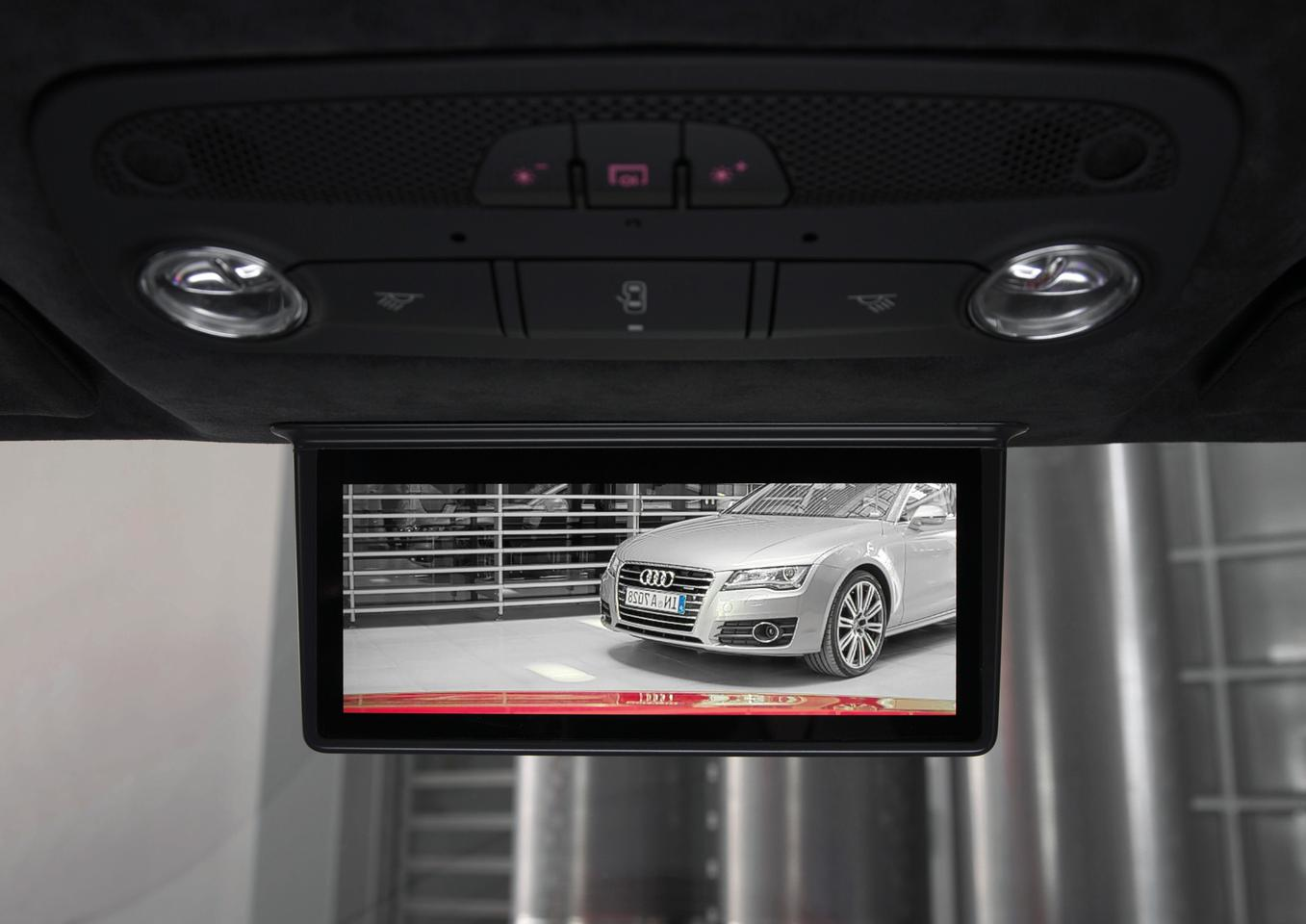 Audi's digital rear-view mirror that will make its production debut in the R8 e-tron