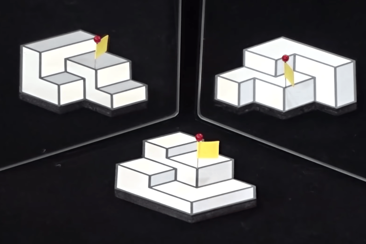 The winning entry in this year's Best Illusion of the Year Contestpresents a 2D picture that has three different perceived structures dependingon the viewpoint
