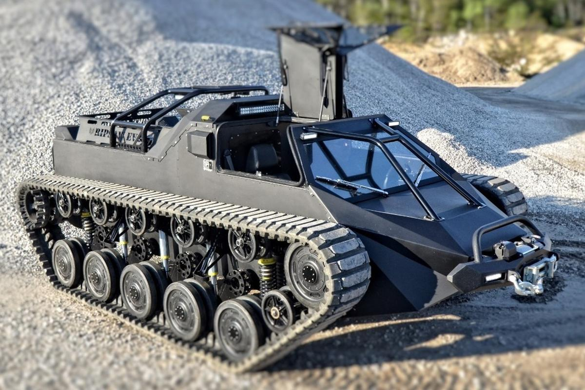 The Ripsaw EV2 could be described as Mad Max and Batman's love child