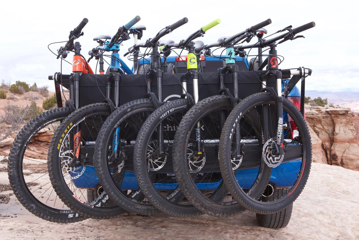 The Latchit Rack can carry up to six bikes, and reportedly installs within five seconds