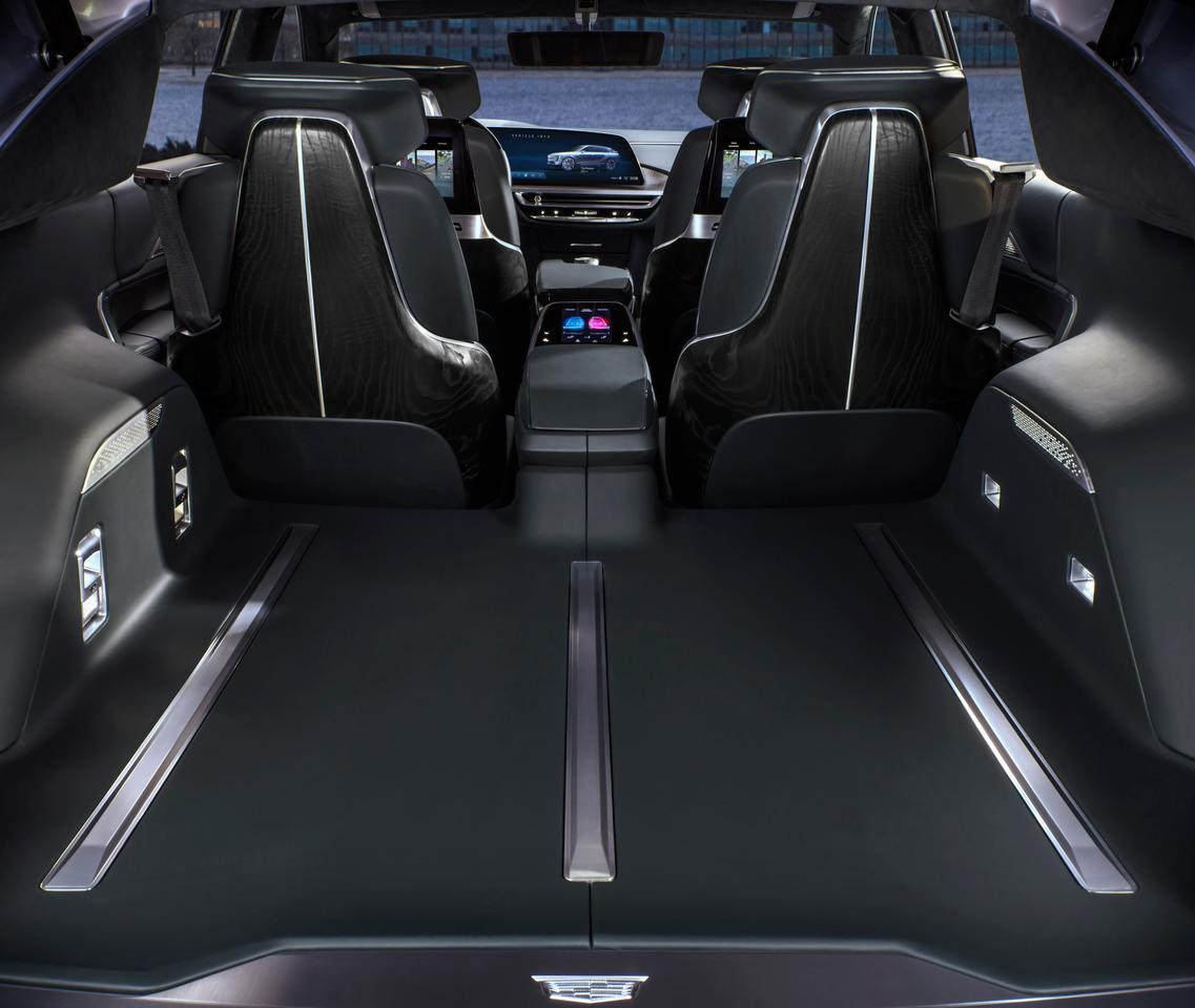 The Cadillac Lyriq EV's seats fold down for additional carrying capacity
