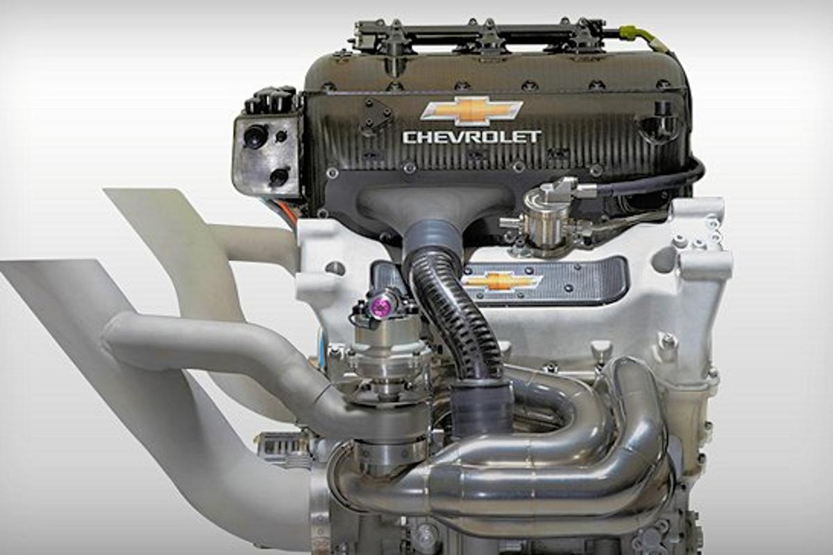 Chevy's 2013 2.2 liter dual blown IndyCar engine (Photo: Chevrolet)