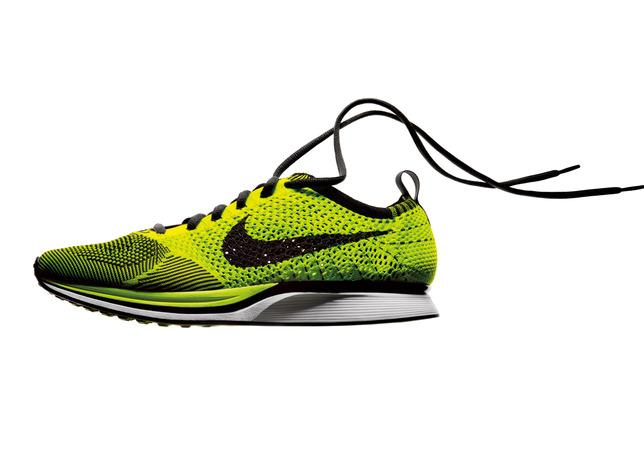 The Nike Flyknits incorporate engineered yarn uppers
