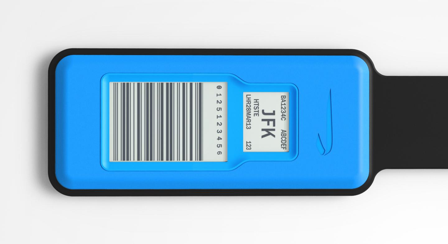 Rather than receiving a new tag for every time they travel, passengers just keep the same one and update it for the next trip