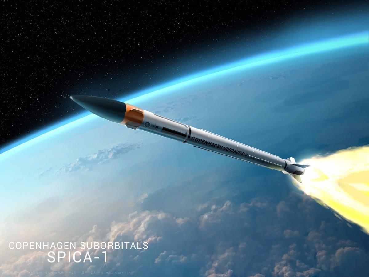 Artist's impression of the Spica I rocket