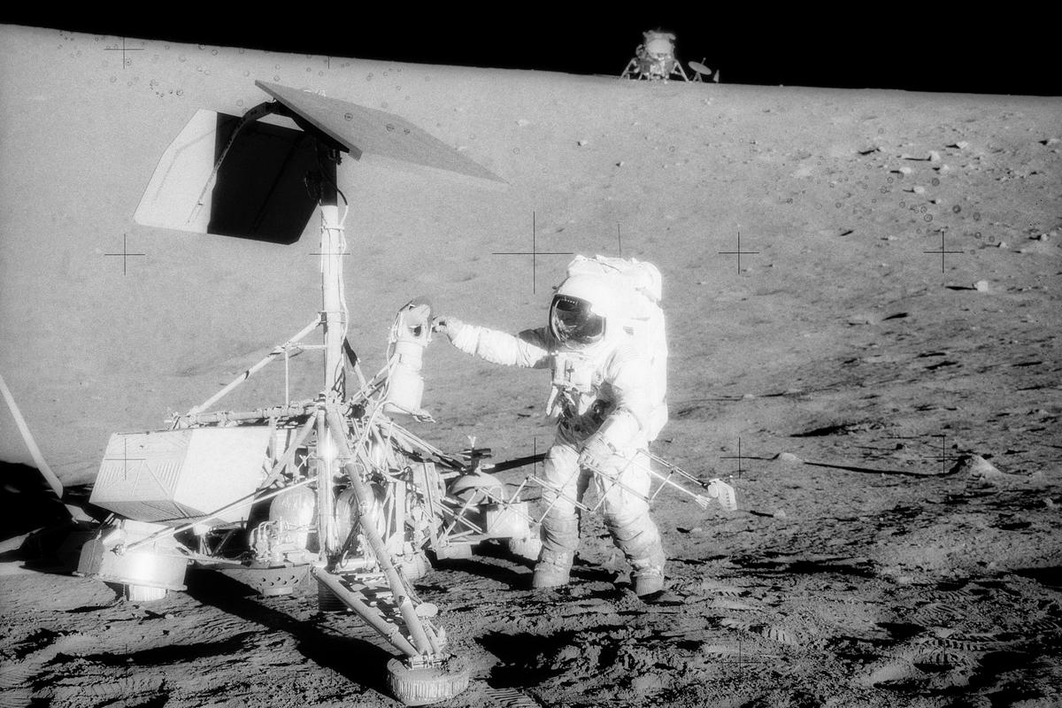 50th Anniversary of Apollo 12: One of the mission objectives was to salvage components from the 1967 Surveyor 3 lander