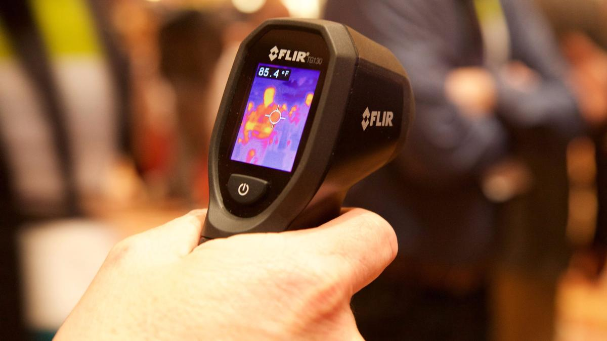The TG130 spot thermal camera is one of two new thermal imaging devices launched by Flir Systems at CES 2016