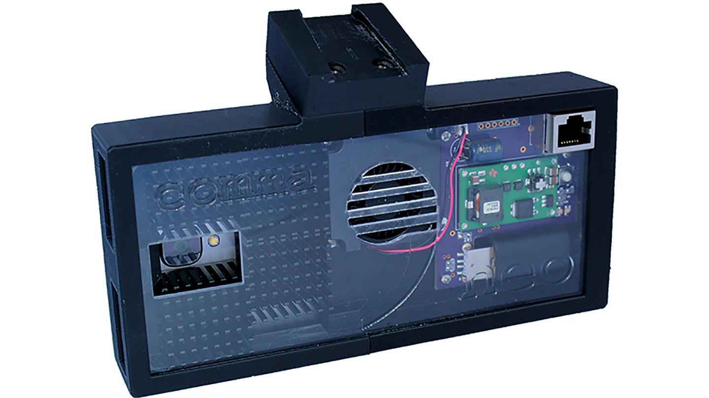 The Neo hardware box for comma.ai's open source OpenPilot autonomous driving software,. coming son to a Honda or Acura near you