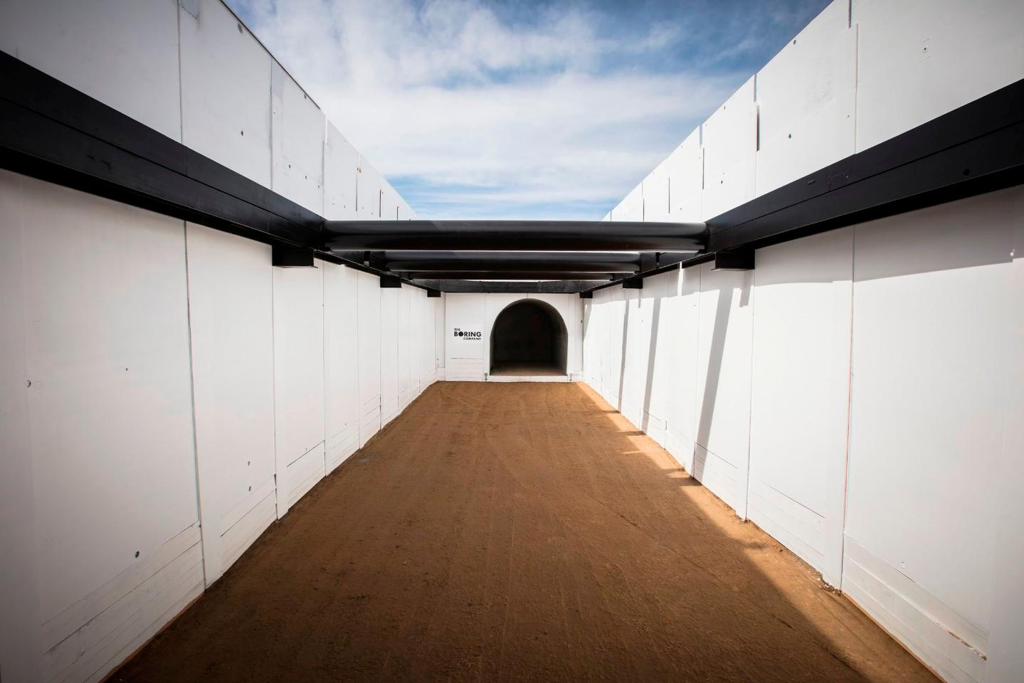 Entrance to The Boring Company's test tunnel