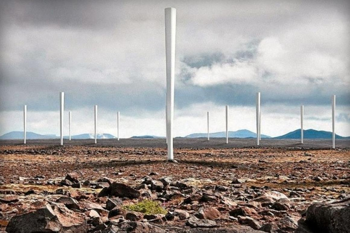 Vortex bladeless turbines wobble to generate energy