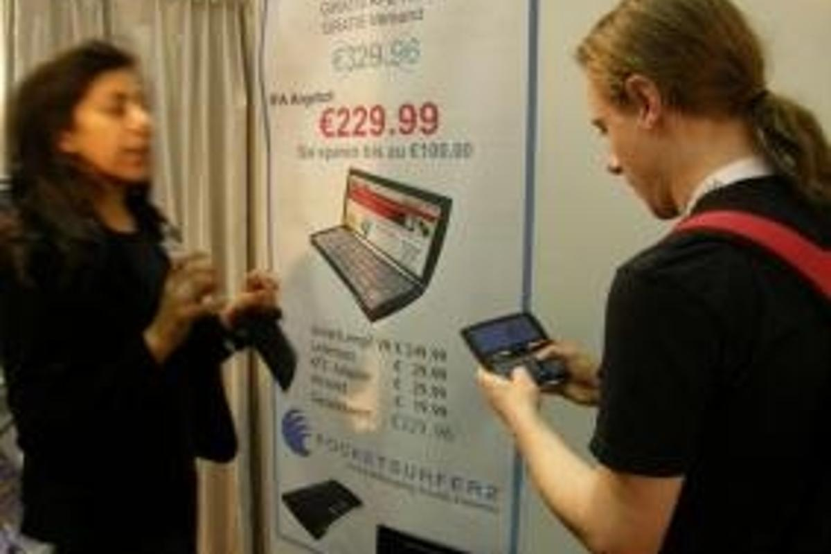 PocketSurfer 2 on show at the German IFA consumer electronics show.