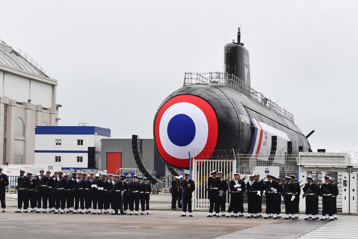 France launches its first Barracuda class nuclear attack