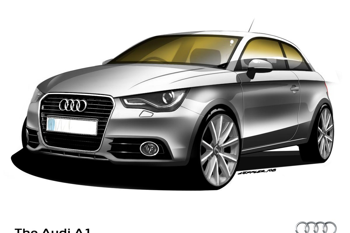 Coming soon to the Geneva Motor Show, the new Audi A1 compact hatchback with a choice of fuel-efficient engines and scope for personalization. The A1 will reach its first UK customers in late 2010